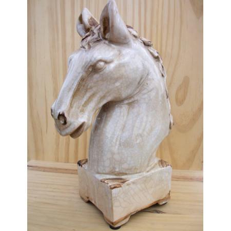 Tête de cheval en céramique petit format
