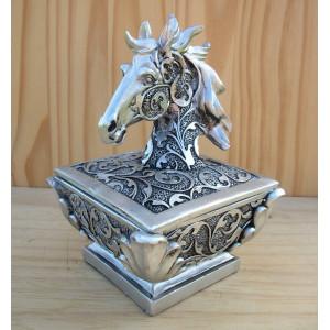 Boîte à bijoux avec tête de cheval baroque