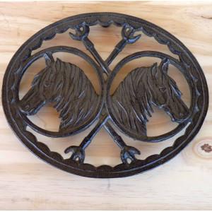 Dessous de plat ovale 2 chevaux
