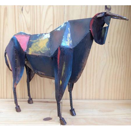 Sculpture taureau art métal moderne