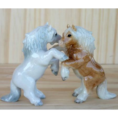 Salière et poivrière cheval et poney