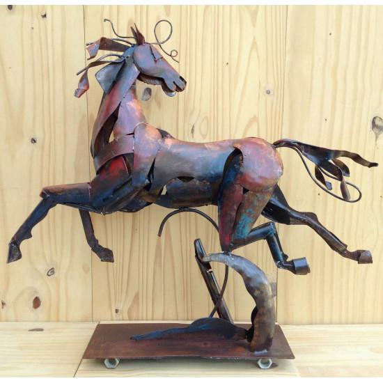Sculpture cheval art métal