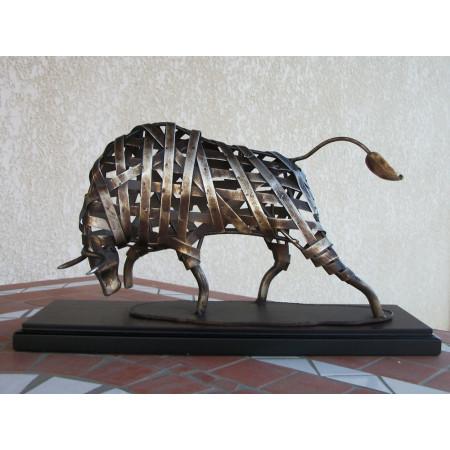Trophée taureau en métal