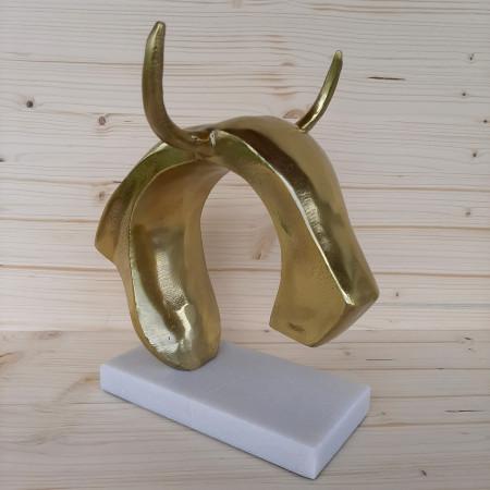 Sculpture moderne tête de taureau