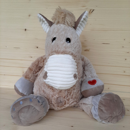 Peluche grand cheval marron